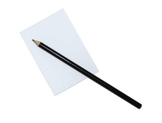Notizblock 20 Blatt + Bleistift schwarz