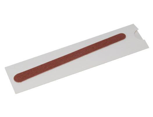 Nagelfeile hygienisch in weißem Papp-Etui
